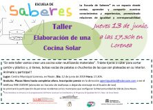 LA ESCUELA DE SABERES ORGANIZA UN TALLER DE ELABORACIÓN DE UNA COCINA SOLAR