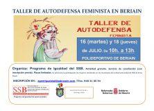 EL SERVICIO SOCIAL DE BASE ORGANIZA UN TALLER DE AUTODEFENSA FEMINISTA