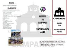 EL VIERNES 2 DE AGOSTO COMIENZAN LAS FIESTAS DE CAMPANAS